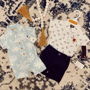 2 Cute, Casual Boy Outfits (3 Months)
